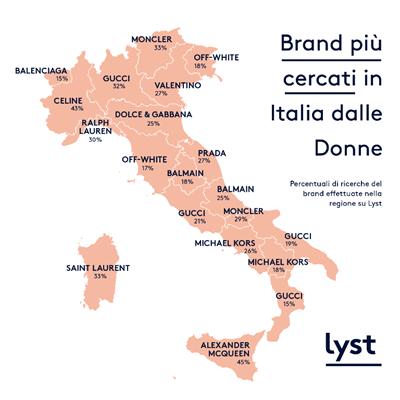 finest selection f950b bea9a Lyst disegna la mappa della moda in Italia - MFFashion.com